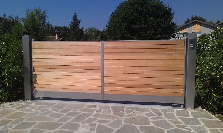 Cancello in legno per giardino idee per la casa - Cancelli in legno per giardino ...